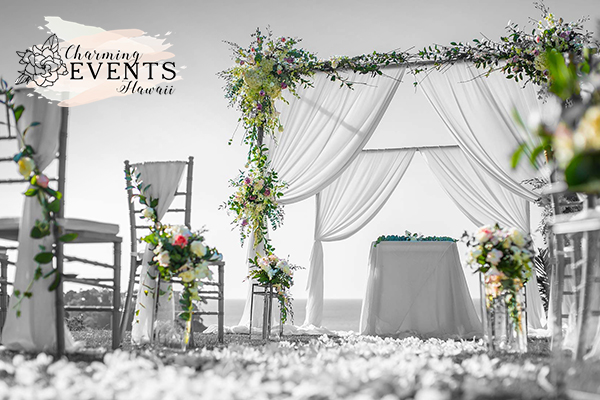image of wedding venue by Charming Events Hawaii.